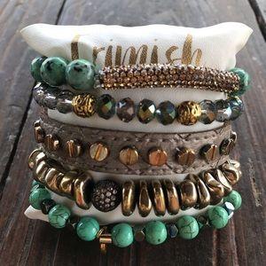 Erimish Bracelet Stack Gemstones Crystals NWT